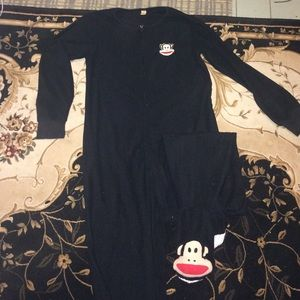 Paul Frank unisex fleece black onesie footies