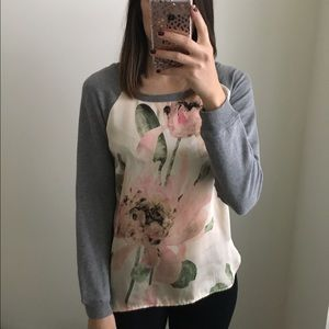 Floral Silk Front Top
