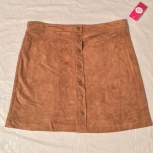 Sans Souci Dresses & Skirts - SUPER SALE!!! Chestnut Suede Skirt