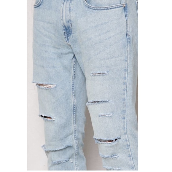 Light wash distressed ripped skinny jeans PacSun 2c17c171f809