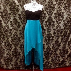 Ya Los Angeles Dresses & Skirts - Ya Los Angeles Criss Cross Back High/Low Dress