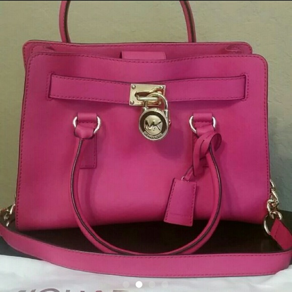 b84b578ad50b 1234 715ee a42a8  low cost michael kors hamilton east west satchel fuschia  a55dd 08942