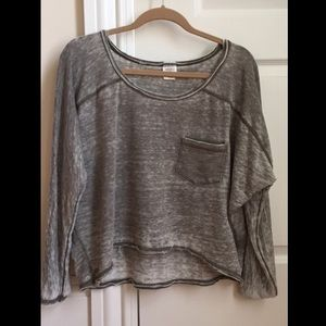 Urban Outfitters Olive Drapey Tee