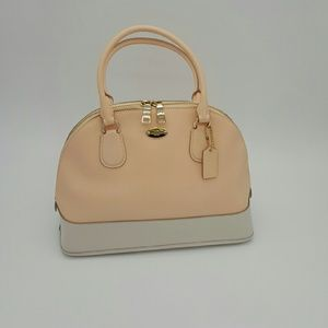 Coach Crossgrain Cora Domed Satchel Handbag
