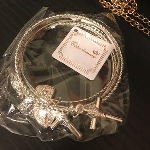 Stackable fashion bracelets 6 pieces