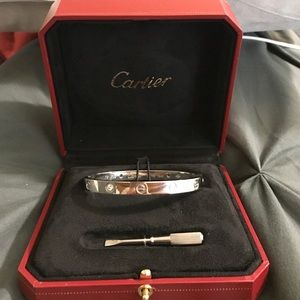 Cartier Love Bracelet 4 diamonds 18k gold
