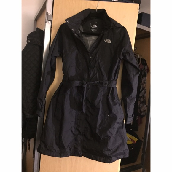 North face womens rain trench coat