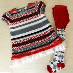 Hanna Andersson Other - [Hanna Andersson] Fair Isle Sweater Dress Set [80]