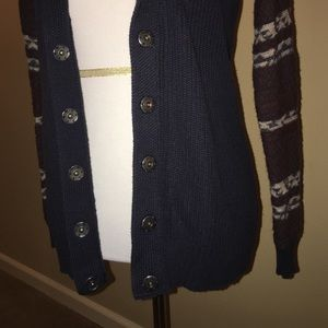 Rubbish Sweaters - 💥SALE💥Snap Down Cardigan Navy Blue