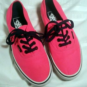 🌺VANS Classic Authentic Lo-Pro Neon Pink 7 🌼