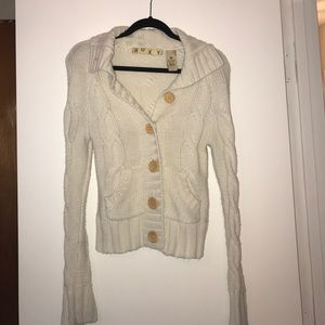 Roxy Cream Cable knit Sweater