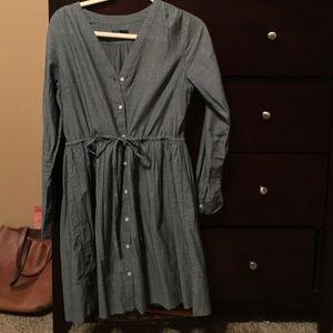 chambray gap swing dress