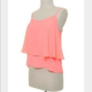 Hot Pink Tiered Tank