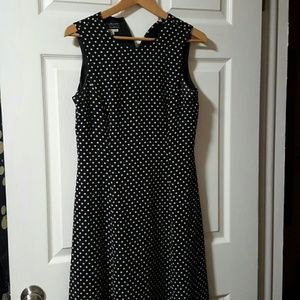 Cynthia Howie Dresses & Skirts - Long black and white polka dot sleeveless dress