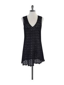 Emporio Armani- Black Knit V Neck Sleeveless Dress Sz 6