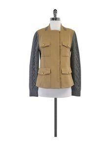 3.1 Phillip Lim- Camel & Grey Cable Knit Jacket Sz 4