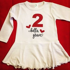 Other - Birthday Name Glitter Long Sleeve Dress