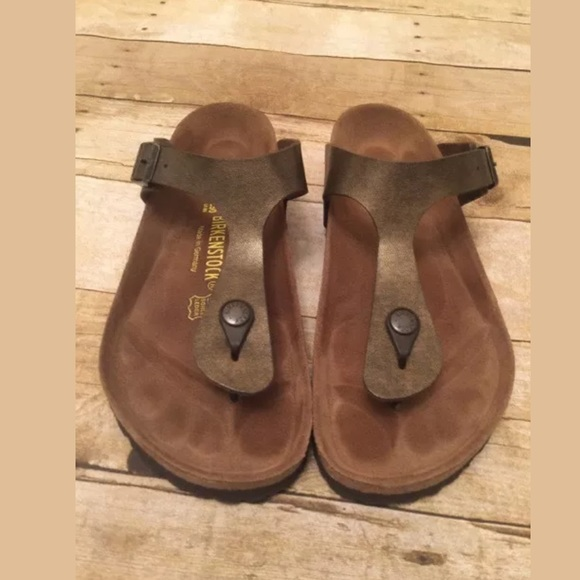 5828da8b0fed Birkenstock Shoes - Birkenstock Gizeh Brown Toffee Size 8 39 Sandals