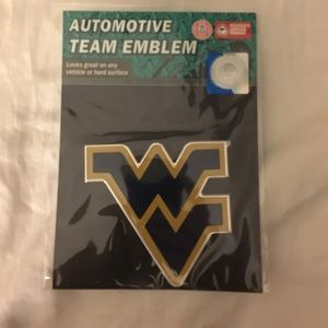 💖 West Virginia University Plastic Car Emblem