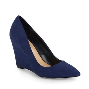 Saks Fifth Avenue Shoes - 🎉HP🎉 Saks Fifth Suede Wedge Pumps