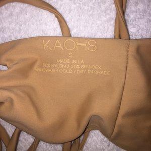 acacia swimwear Swim - Kaohs bikini top Small with tassel ties