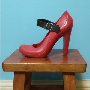 Marni red rubber heels