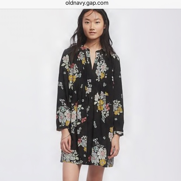 3987a352362fc Old navy - Printed Pintuck Swing Dress for Women. M 586c8f7d9c6fcf490717a30b