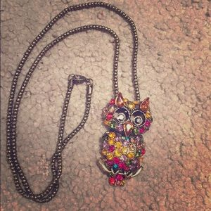 Jewelry - Fun, colorful owl necklace