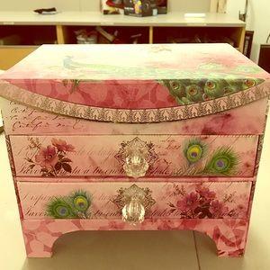 Handbags - Pink Jewelry Box/Makeup Organizer