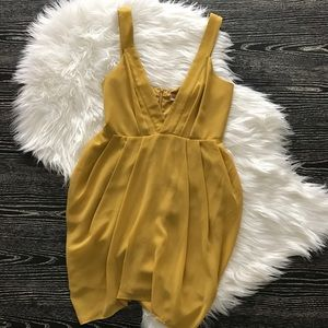 NWT Keepsake The Label Yellow Flowy Cocktail Dress
