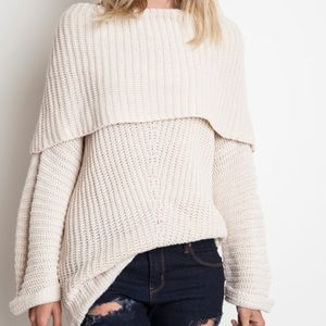 Love Erin Collection Sweaters - 🆕Ivory Knit Oversized Sweater