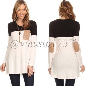  Asymmetrical Long Sleeve Tunic Top