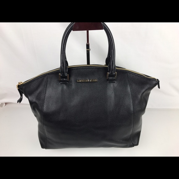 2be0c38fe04997 Michael Kors Bags | Riley Large Black Leather Satchel | Poshmark