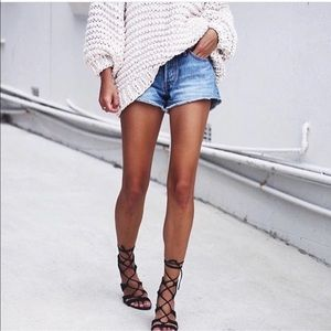 Lace Up Ankle High Gladiator Sandals