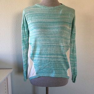 Kensie Sweaters - Kensie Blue Sweater with Sheer Accents