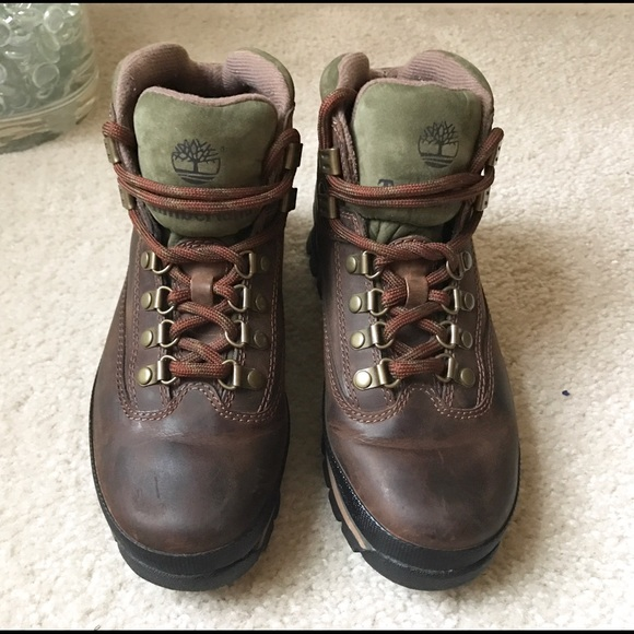 1371bb1fd77 Timberland WOMEN'S LEATHER EURO HIKER BOOTS