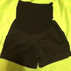 Motherhood Maternity Pants - Motherhood Maternity Black cuff shorts. So comfy