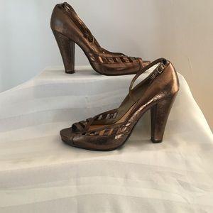 Two Lips Shoes - Copper Bronze Heels Sz 9