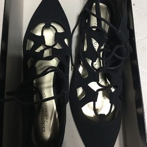 Christian Siriano Shoes - Christian Siriano for Payless black flat lace up