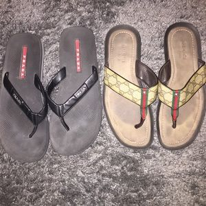 Other - Men's Gucci and Prada flip flops