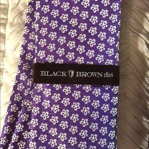 Black Brown 1826 Other - Price drop! Brand-new 100% silk tie