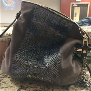 Jimmy Choo Handbags - Jimmy Choo Snakeskin Hobo Bag