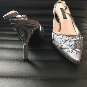 Sergio Rossi Shoes - Sergio Rossi Satin Shoe with stones