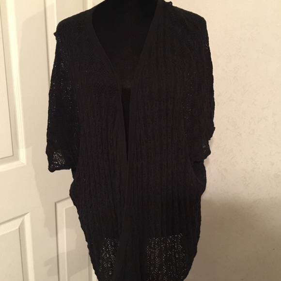 48% off torrid Sweaters - Torrid black short sleeve cardigan 2X ...