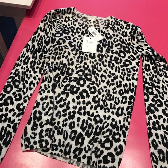 b599159020ae Joie Sweaters   Leopard Print Cashmere Sweater   Poshmark