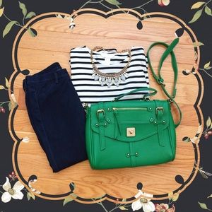 Handbags - Green Crossbody Satchel