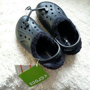 CROCS Other - Kid's Fur Lined Black Crocs