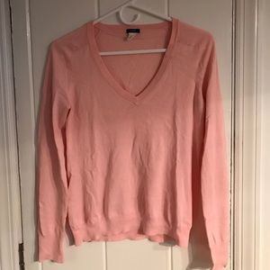 J. Crew Tops - J Crew cotton v neck sweater Pink S