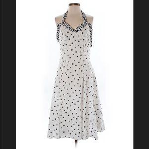 Les Copains Dresses & Skirts - Les Copains Blue Polka dot dress, 6/8