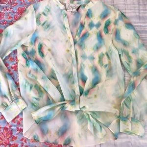 Rory Beca Tops - Rory Becca Silk Tie Dye Top